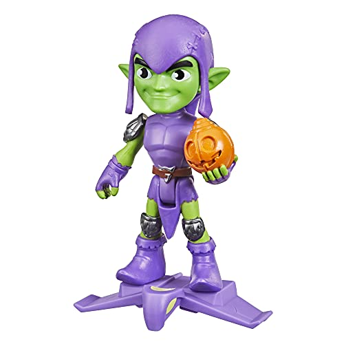 Marvel Spidey and His Amazing Friends Green Goblin Hero Figure, 4-Inch Scale Action Figure, Includes 1 Accessory, for Kids Ages 3 and Up
