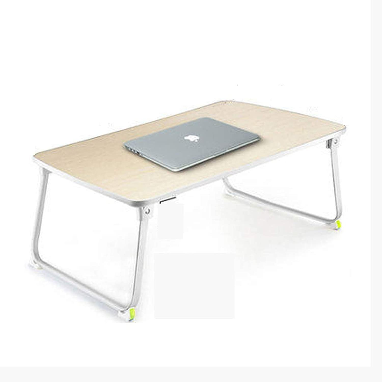 SHWSM Household Folding Table Bed Portable Desk Large Desktop, 70×50cm Lightweight Student Desk Folding Table (Size   70×50×27.5cm)