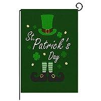 聖パトリックの日ガーデンフラッグ両面リネンヤード屋外装飾12.5X18.5インチ (Color : E)