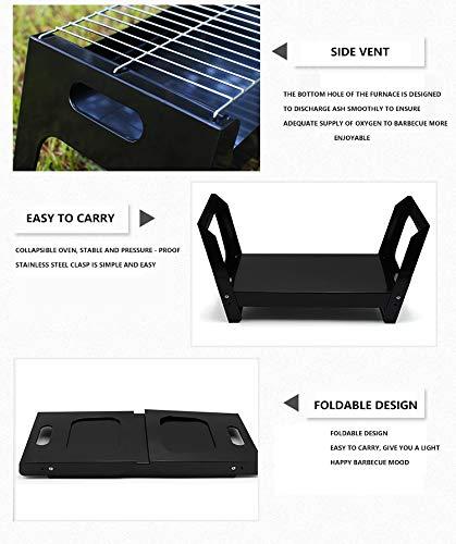 41nRVCUvGEL. SL500  - QAZW Grill-Klappgrill Tragbare Camping-Installation im Freien Einfacher quadratischer Einweggrill für Outdoor-Aktivitäten Grillzubehör