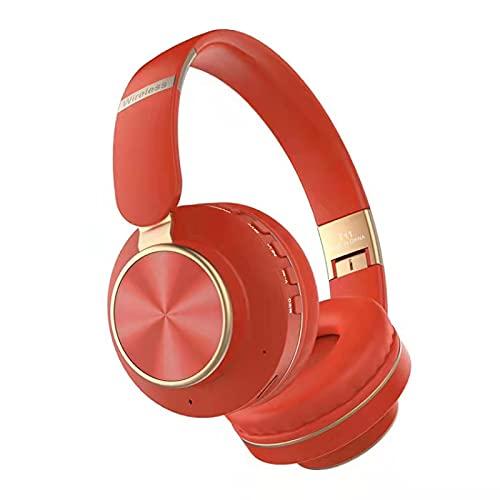 Auriculares Bluetooth, Auriculares inalámbricos en los oídos música Plegable Color Ajustable Auriculares Deportivos Negro/Blanco/Gris/Verde/Rojo 红色
