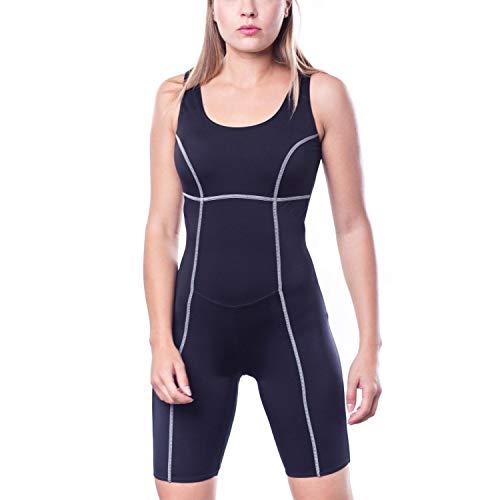 Aquarti Damen Schwimmanzug mit Bein Geschlossener Rücken, Farbe: Schwarz, Größe: 38