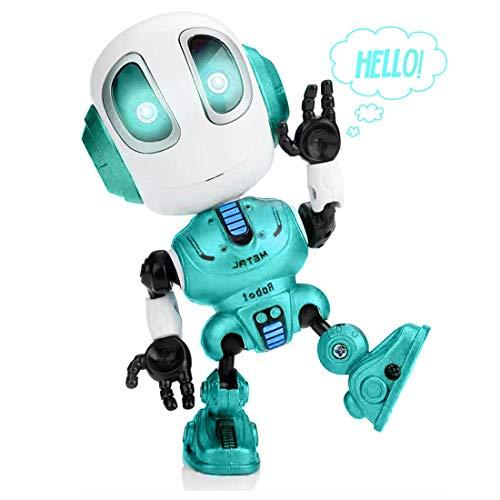 Yidarton Kinder intelligente Reden Roboter Spielzeug, Spaß interaktive Sprachsteuerung Touch, Blitz, elektronisches Spielzeug, LernspielzeuG für Kinder Jungen Mädchen Baby (Blau)