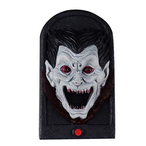 LQH Timbre de la Puerta de Halloween Terror Puntales crneo Bruja Vampiro Scary Sounds Luz de la Barra del Partido de Puerta Decoraciones for nios Juguetes del Regalo (Size : A)