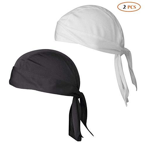 Togames-ES 1 UNID 2018 Nueva Cola Larga Trenza Sombrero de Pirata Sombrero Flexible Baotou Sombrero Gorro de Quimioterapia Accesorios para el Cabello Sedoso