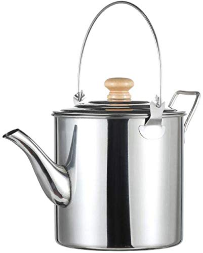Jooyouo-TH Camping Potten & Pans Kamp Kookgerei Outdoor Camping RVS Hangende Pot Grote Capaciteit Theepot Koffie Pot Draagbare Ketel Camping Picknick Ketel 2L