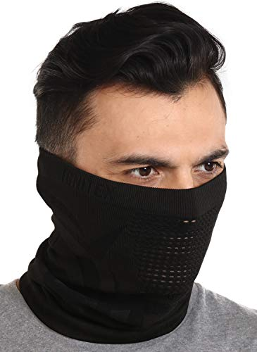 Winter Face Mask & Neck Gaiter - Cold Weather Half Balaclava Style Seamless Ski Tube for Men & Women - Windproof Face Warmer, Cover & Shield for Running, Skiing, Snowboarding & Motorcycling
