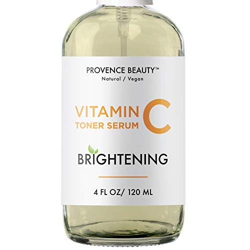 Hydrating Vitamin C Toner For Face - Facial Setting Spray - Enhanced with Green Tea and Aloe Vera for All Skin Types - Pore Minimizer and Clarifying Dark Spot Remover - 4 Fl Oz