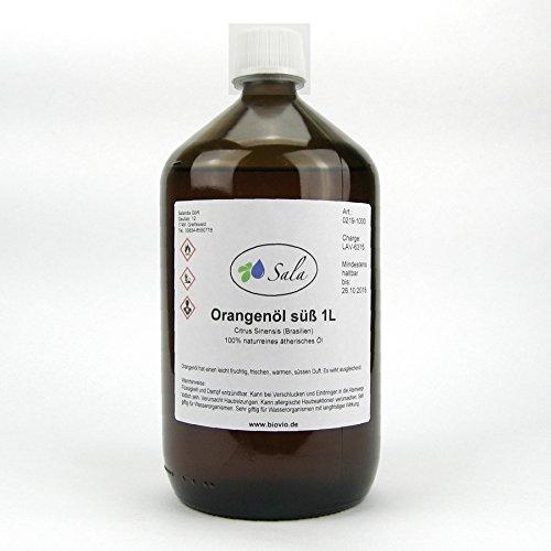 Sala ätherisches Orangenöl süß kaltgepresst naturrein 1 L 1000 ml