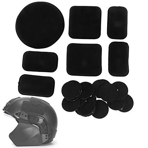 Alomejor Helmschaumpolster Schaumpolster Reduzieren die Helmbewegung und bieten schmerzfreien Schutz mit dem 18-TLG. Klettverschluss für Helmersatzteile(Schwatz)