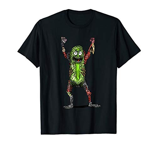 Rick und Morty - Pickle Rick Pop auf Schwarz T-Shirt