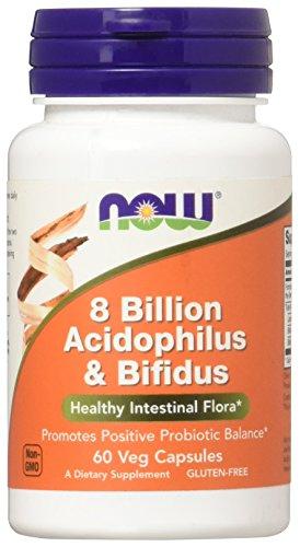 NOW Foods - Acidophilus & Bifidus 8 Bilhões de UFC - 60 cápsulas vegetais