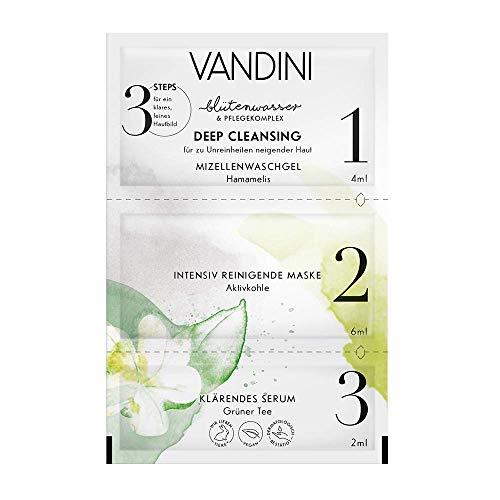 VANDINI DEEP CLEANSING 3-Step Maske, 2er Pack(2 x 12 ml)