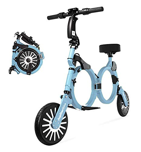 Jupiter Bike 2.0 - Smart Folding Electric Li-Ion Bicycle (Lt Blue)