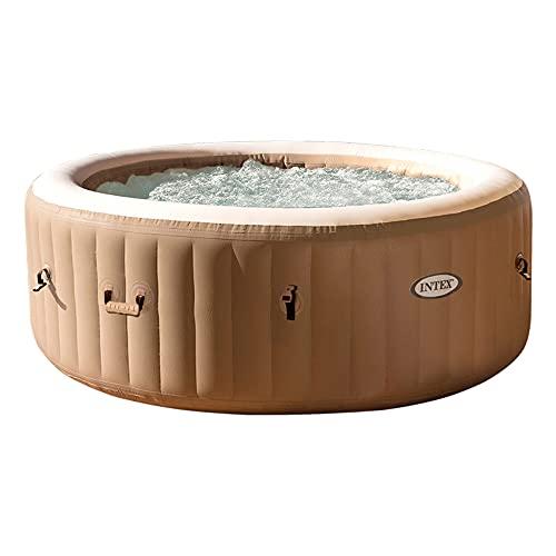 Intex 28426 Pure Spa Bubble Therapy, 196 x 71 cm 4 Posti, Sabbia, Con Pompa, Riscaldatore, Sistema...