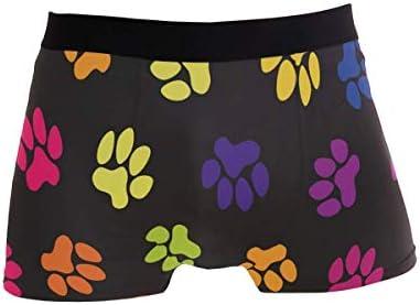 Fitted Boxer Bóxer Gráfico de Patas Coloridas Boxer Calzoncillos para Hombre,9,XL