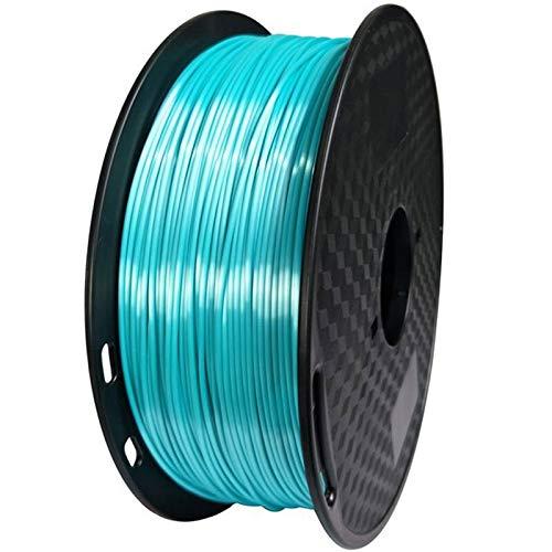 SRY-Holster HH-DYHC, 1 filamento para impresora 3D de color azul seda de 1,75 mm, 500 g, filamentos de impresión 3D, 0,5 kg, hilo de material brillante (color: azul)