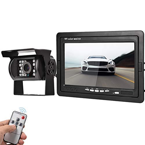 Grabador de vídeo para Coche DVR Grabador de conducción Digital Carcasa de Resina ABS Disipación de Calor Ajustable con Pantalla LCD de 7'para la Seguridad del Coche