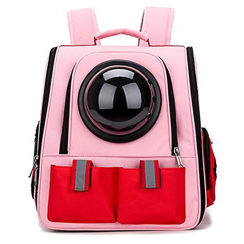 Ruilin Pet Bag - Large Space Space Haustierrucksack Poröse, atmungsaktive Haustier-Tragetasche