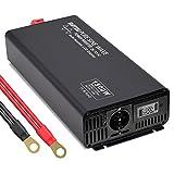 1500W/3000W Inversor de onda Sinusoidal Pura 12v 220v 230v Convertidor con 1 enchufes de la UE & Pantalla LCD & 1 Puertos USB para Coche Camping