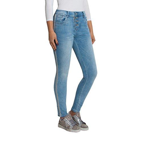 SKUTARI Luxuriöse Damen Jeans Stretch Loose Fit...