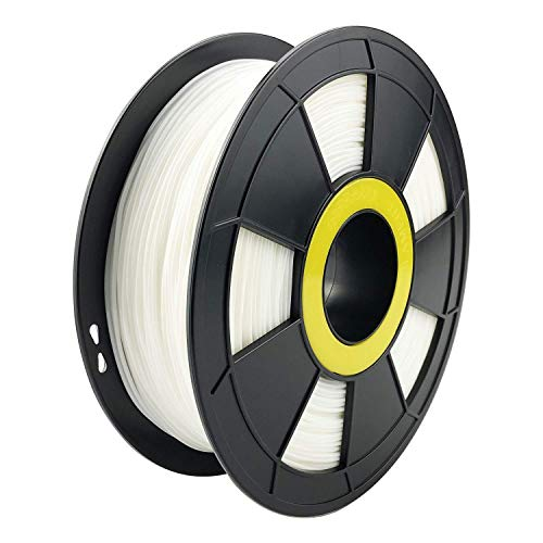 ZIRO Flexible TPU Filament 1.75mm,3D Printer Filament 1.75mm TPU Flexible Filament 0.8KG Spool, Dimensional Accuracy +/- 0.05mm,White