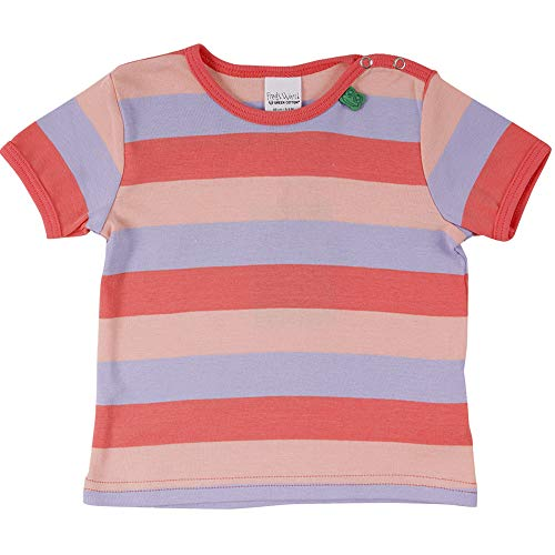 Fred'S World By Green Cotton Multi Stripe S/s T T-Shirt, Multicolore (Coral 016164001), 68 Bébé Fille