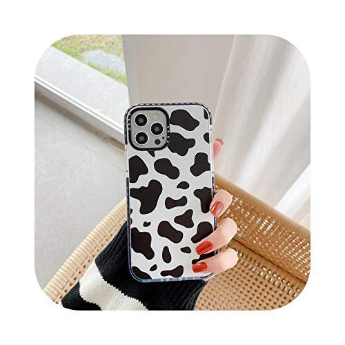 Carcasa para iPhone 12, diseño floral de vaca y flores para iPhone 12 Pro Max 11 Pro Max XR XS Max 7 8 Plus SE2, funda de silicona a prueba de golpes, bonita funda para iPhone 12