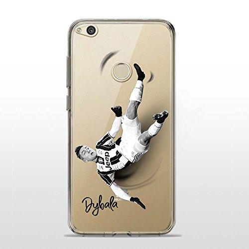 P8 Lite 2017 Cover TPU Gel Trasparente Morbida Custodia Protettiva, Soccer Collection, Paulo, Huawei P8 Lite 2017