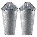 YiYa 2PCS maceteros de Metal para Pared decoración de jarrón Colgante de Metal para...