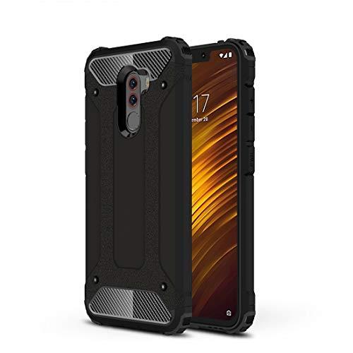 Liju. nguo Diamond Armor PC+ TPU Custodia Protettiva for dissipazione di Calore for Xiaomi Pocophone F1(Nero) (Colore : Black)