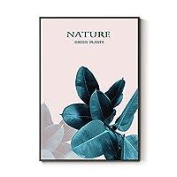 リーフ植物ノルディックミニマリストリビングルーム新鮮な装飾的な絵画デザイナーの壁アート北欧風の装飾 0128 (Color : B, Size : 30×40cm)