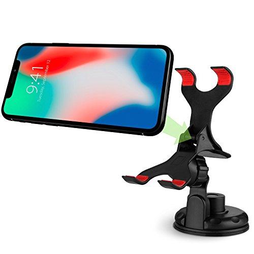 VENA Universelle KFZ- Auto- Halterung für Handy, Smartphone, Armaturenbrett, Windschutzscheibe [Teleskoparm mit starkem Saugnapf] [360° Drehbar] für iPhone SE (2020)/XR/XS, Galaxy Note 9/S20 und S20+