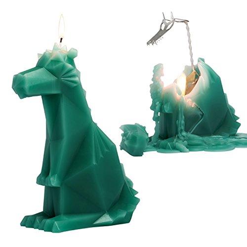 Drachenskelett-Kerze : Grüner Drache