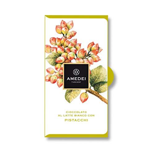Amedei Weiße Schokolade mit Pistazien, Tafel - 50 g