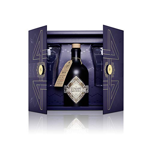 The Illusionist Geschenkset – Mysterium Box, The Illusionist Gin (1 x 0.5 l) und 2x The Illusionist Gin-Glas, Geschenkbox