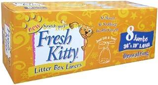 Fresh Kitty Litter Box Liners, 8 Count Jumbo Drawstring