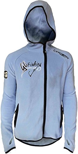 HOTSPOT DESIGN Polar Fleece Go Fishing, Fleecejacke mit Kapuze, Gr. XL, FL-01002S04