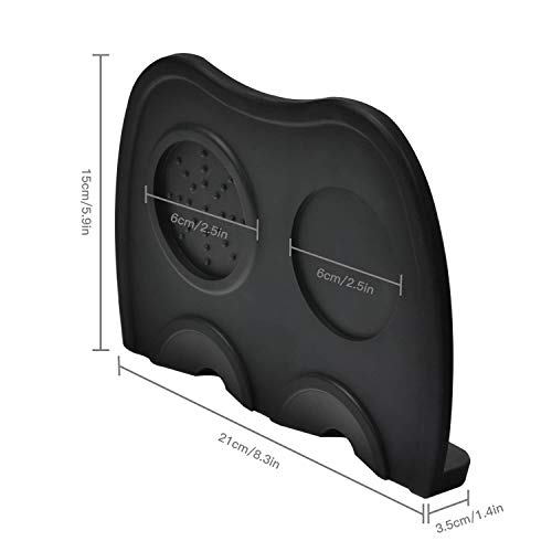 Silicone Coffee Tamper Mat, Anti-Slip Espresso Corner Tamping Pad Coffee Tamp Mat