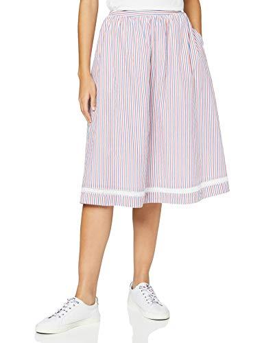 Tommy Jeans Damen Tjw Seersucker Stripe Skirt Rock, Weiß (White/Multi 0fo), 34 (Herstellergröße: Small)