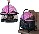 Pet Gear View 360 Pet Carrier & Car Seat with Booster Seat Frame for Small Dogs & Cats with Mesh Ventilation for Easy Viewing, Pink Floral (PG1140NZPF)