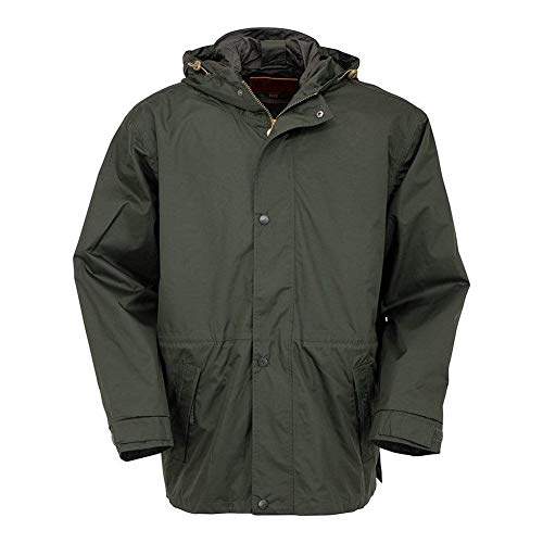 Outback Trading 2405 Pak-A-Roo Waterproof Windproof Seam-Sealed Rain Parka, Black, X-Large