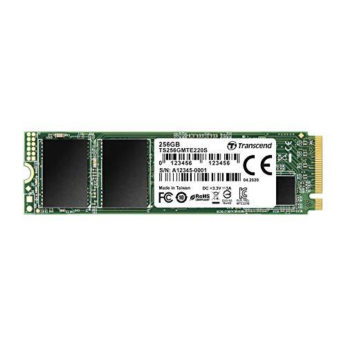 Transcend TS256GMTE220S 256GB M.2 Ultra-Highspeed SSD für High-End-Anwendungen (Gaming, digitale Audio- und Videoproduktionen etc.), schnelle Übertragung bis zu 3.500/2.700 MB/s, PCIe Gen3 x4, 2280