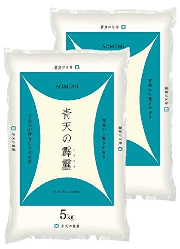 名古屋食糧 青森県産 青天の霹靂 10キロ (5キロ×2袋) 令和元年産