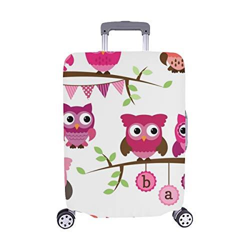 Colección de vectores Niña Bebé Ducha Patrón temático Spandex Maleta Trolley de Viaje Protector de Equipaje Maleta Cubierta Protectora para 28.5 X 20.5 Inch