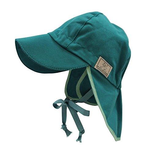 PICKAPOOH Baby/Kinder Sonnenhut/Sonnenmütze Tom mit UV-Schutz aus Reiner Bio-Baumwolle, Slate Green Gr. 52