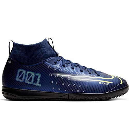 Nike Youth Mercurial Superfly VII Academy MDS IC (2 Little Kid US) Blue/Black