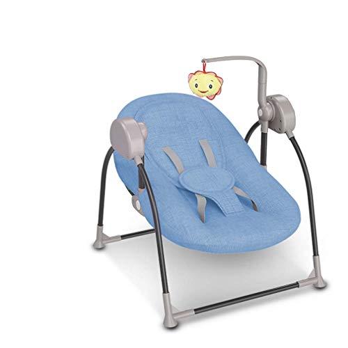 ZWQ kids Pliant bébé Chaise électrique à Bascule, Inclinaison Berceau bébé, Chaise réconfortante Nouveau-né endormi, Le Shaker à Bascule pour Enfants, adapté pour 0-2 bébé,B