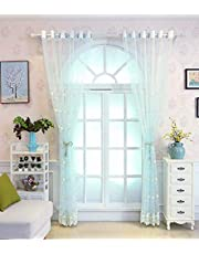 Sheer Curtains for Bedroom 1 Piece Package,Curtain Net for Living Room - Grommets Top