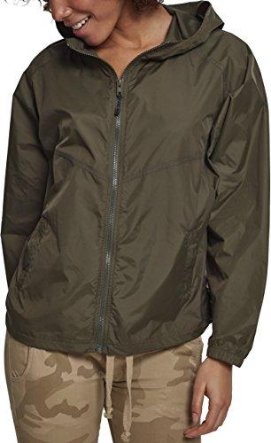 Urban Classics Damen Ladies Oversize Windbreaker Jacke, Grün (Darkolive 00551), Large (Herstellergröße: L)
